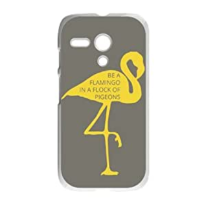 Be A Flamingo In A Flock Of Pigeons Motorola G Cell Phone Case White gift pp001_9442007