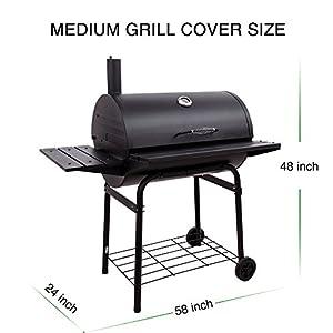 homasy housse b che de protection barbecue couverture de gril anti uv anti l eau anti l humidit. Black Bedroom Furniture Sets. Home Design Ideas