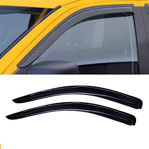 Light Smoke Outside Mount Vent Visor 2pcs For 2002-09 Dodge Ram 1500 Regular Cab