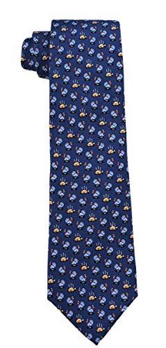Vineyard Vines Men's Silk Tie. (Turkey Dinner/Navy)