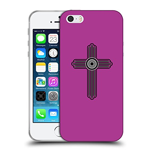 GoGoMobile Coque de Protection TPU Silicone Case pour // Q07980621 Christian Cross 23 byzantin // Apple iPhone 5 5S 5G SE