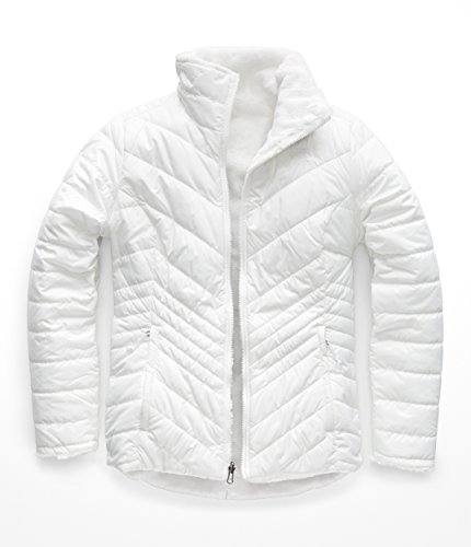 (The North Face Women's Mossbud Insulated Reversible Jacket TNF White Large)