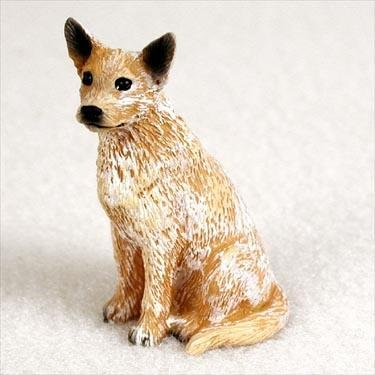 Australian Cattle Dog Miniature Figurine - Red