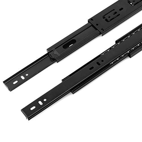 """H-17mm 11//16/"""" L-278mm 11/"""" 2 Pairs Ball bearing drawer runners groove slides"""