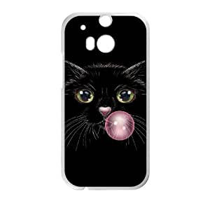 HTC One M8 Cell Phone Case White Cat Cat Cat KYS1133810KSL