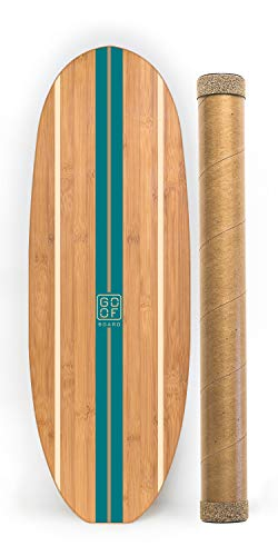 GoofBoard Classic (Blue Bird) - Surfing Balance Board - Perfect for SUP/Paddle Board/Kite/Longboard - Top Rated of All Balance Boards for Surfers -  U-blocks Included for Easy/Safe Start-Up -