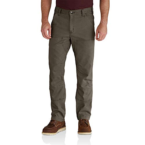 Carhartt Men's Rugged Flex Rigby Double Front Pant, Tarmac, 38 x (Mens Double Front Canvas)