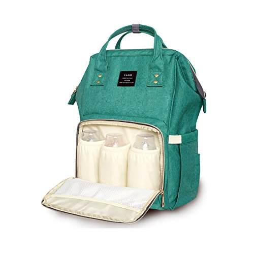 Diaper Backpack, Large Capacity Baby Bag, Multi-Function Travel Backpack Nappy Bags, Nursing Bag, Fashion Mummy, Roomy Waterproof for Baby Care, Stylish and Durable by Jewelvwatchro (Green) from Jewelvwatchro