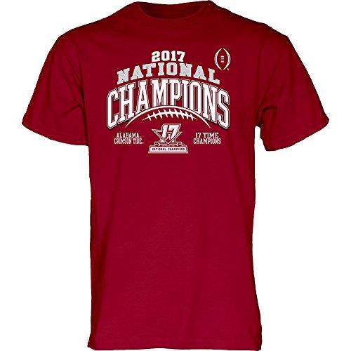 Georgia Bulldogs National Championship - Elite Fan Shop Alabama Crimson Tide National Champs Tshirt Laces (2018 National Championship) - L