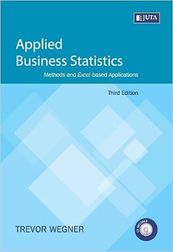 applied business statistics by trevor wegner free download
