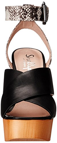 Sandal Black London Platform Lessty Women's Shellys q1AwTFx
