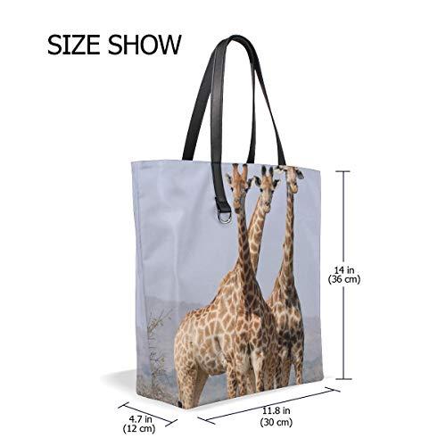 MUOOUM Bag Women Handbag Giraffe Tote Girls Purse Africa for Animal Shoulder Casual South 00Arq