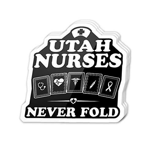 Uitee Store Cool Sticker (3 pcs/Pack,3x4 inch) Utah Nurses Digital Graphic Symbol Stickers for Water Bottles,Laptop,Phone,Teachers,Hydro Flasks,Car