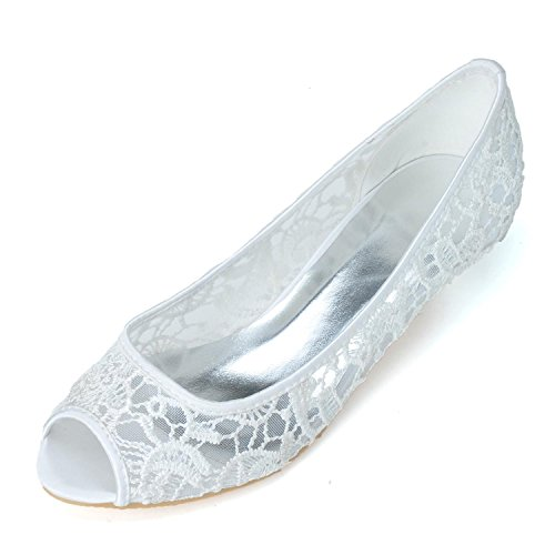 De Blanco Wedding yc amp; Evening Tacón Para Alto White Grande L Party Zapatos Pink Mujer Talla aZAxwaU
