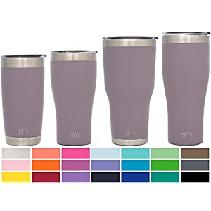 Simple Modern 22oz Slim Cruiser Tumbler - Vacuum Insulated Double Wall 18/8 Stainless Steel Hydro Trazel Mug - Coffee Cup Flask - Lavender