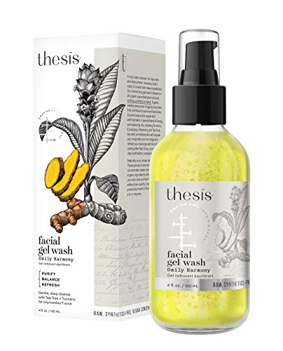 Thesis All Natural Organic Facial Wash - Daily Harmony Cleanser for Oily, Combination, Problem Skin