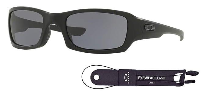 7c1fd3a6d144 Amazon.com: Oakley Fives Squared OO9238 923833 54M Matte Black/Grey  Sunglasses For Men+BUNDLE with Oakley Accessory Leash Kit: Clothing