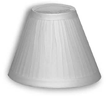 Small White Cloth Pleated Lamp Shade Clips Onto Tapered