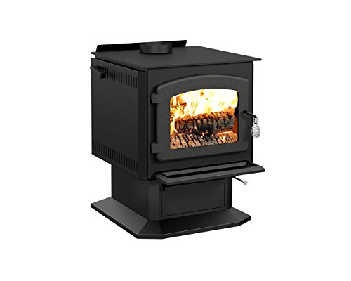 Drolet Blackcomb Wood Stove - 60,000 BTU, EPA-Certified, Model# DB02810 (Burning High Wood Stove Efficiency)