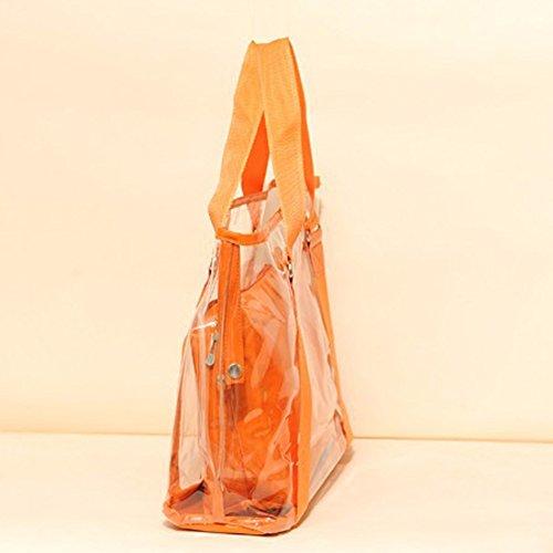 Hombro Transparente Bolso Bolso Bolsas Transparente Candy Moda Playa Mujer naranja Espeedy Jelly Bolsas De De wFIazBq
