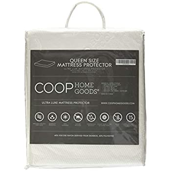 COOP HOME GOODS - Mattress Protector - Waterproof and Hypoallergenic - Soft and Noiseless Lulltra® Fabric from Bamboo Derived Rayon - Protection Against fluids - Oeko-TEX Certified - Queen