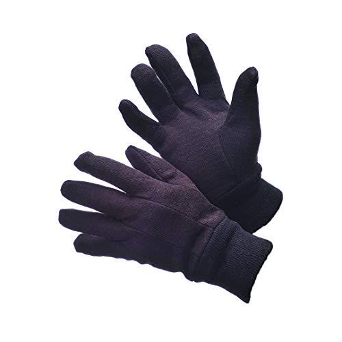 Jersey Glove Brown Premium - 6 DOZENS 72 PAIRS POLY COTTON BROWN JERSEY WORK GLOVES 9OZ (Large (Premium Man))
