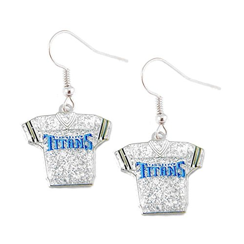 Sports Team Tennessee Titans Jersey Dangle Glitter Earring -