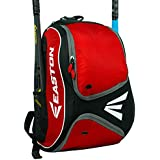 EASTON E110BP Bat & Equipment Backpack Bag | Baseball Softball | 20202 | 2 Bat Sleeves | Smart Gear Storage | Vented Shoe Pocket | Rubberized Zipper Pulls & Fence Hook for Dugout Functionality