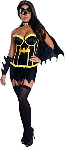 Secret Wishes Womens DC Comics Batgirl Corset Costume, Black, -