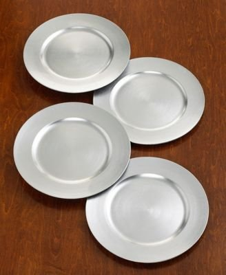 Charter Club Platinum Charger Plates, Set of 4