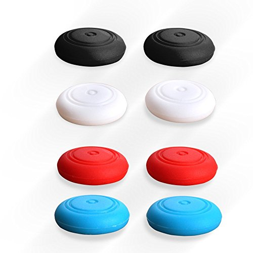 UUShop 8 Pack 4 Colors Silicone Thumb Stick Caps Grip Gamepad Analog Joystick for Nintendo Switch NS Controller Joy-Con