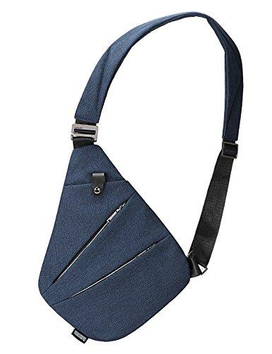 8248c21133 Sling Bag Chest Shoulder Backpack Crossbody Bags for Men Boys Travel  Outdoors (Blue)
