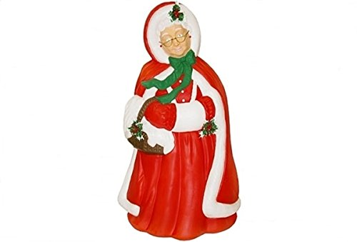 Outdoor Lighted Plastic Santa Claus - 2