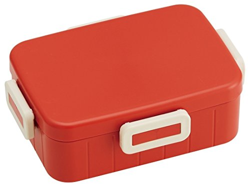 Japanese Bento Box, Lunch Box (Orange-Red (Plastic,6.9x5.1x2.3in))