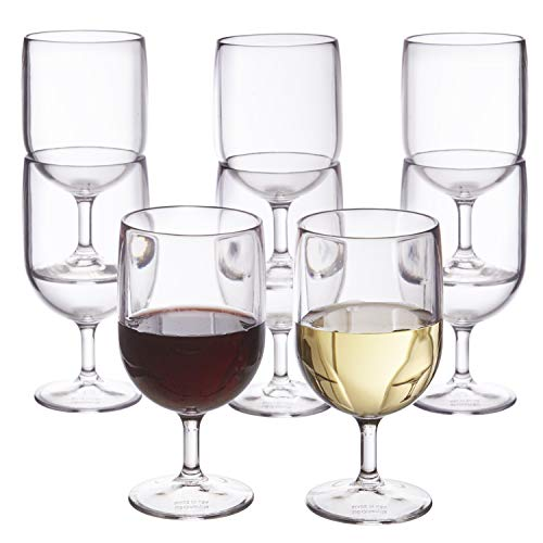 Stackable 8-ounce Plastic Wine