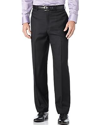 Calvin Klein Black Mini Striped 100% Wool New Men's Dress Pants