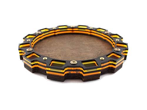 Sprocket Design - Dice Tray~Sprocket Design in Sunburst Orange for Gaming, Tabletop, RPG ~ C4Labs