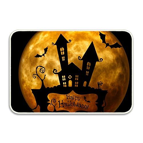 VEZEFOR Welcome Entrance Doormat,Halloween Silhouette Funny Door Mat for Indoor/Outdoor, Entry, Garage, Patio, High Traffic Areas, Shoe Rugs. ()