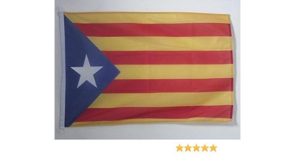 AZ FLAG Bandera Nautica de CATALUÑA ESTELADA BLAVA 45x30cm - Pabellón de conveniencia CATALANA INDEPENDENTISTA – Catalunya 30 x 45 cm Anillos: Amazon.es: Hogar