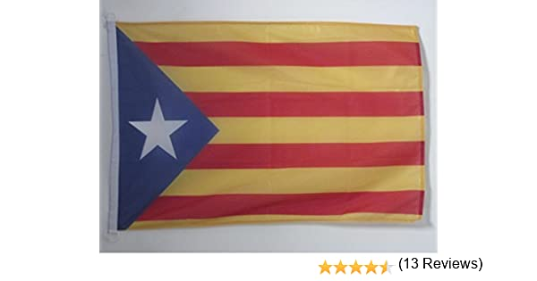AZ FLAG Bandera de CATALUÑA ESTELADA BLAVA 90x60cm Uso Exterior - Bandera CATALANA INDEPENDENTISTA – Catalunya 60 x 90 cm Anillos: Amazon.es: Hogar