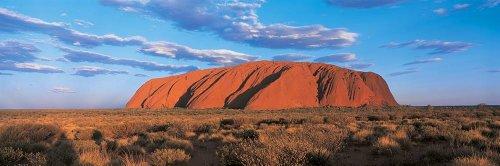 Walls 360 Peel & Stick Wall Mural: Sunset Ayers Rock Uluru-Kata Tjuta National Park Australia (48 in x 16 in)