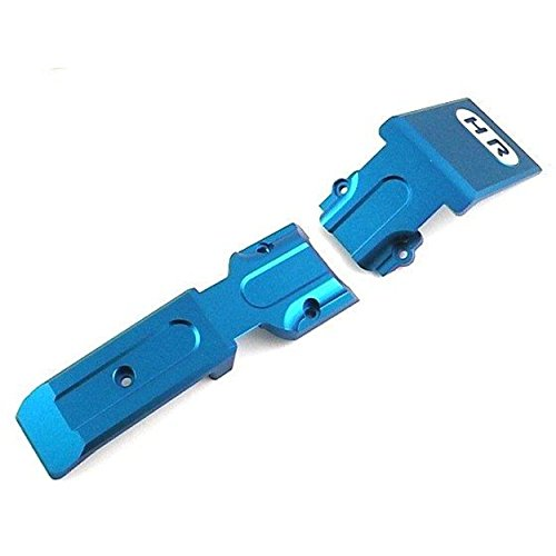 (Hot Racing Rvo331F06 Aluminum Front Skid Plate (Blue), for Traxxas Revo Or Slayer)