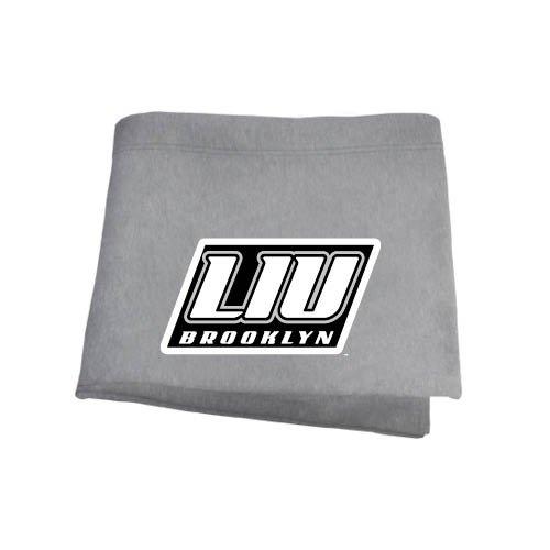 (CollegeFanGear LIU Brooklyn Grey Sweatshirt Blanket 'LIU Brooklyn')
