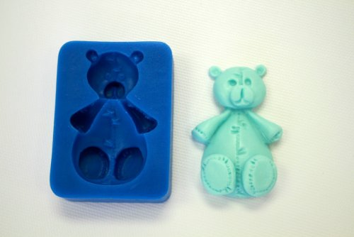 Teddy Bear Chocolate Mold - FABRIC TEDDY BEAR SILICONE MOLD FOR FONDANT, GUM PASTE, CHOCOLATE, HARD CANDY, FIMO, CLAY, SOAPS
