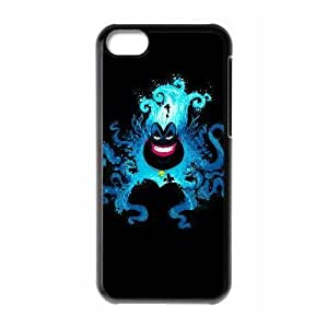 iPhone 5c Case,[Generic] Cell Phone Case for iPhone 5c [Black] Disney Villains Ursula GG1567