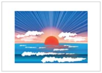 NW Pitney Ink Sunset Birthday Card, 7 x 5 Inches (1086BD)