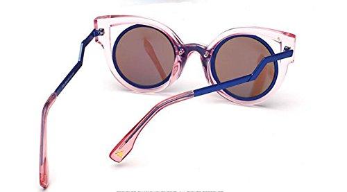 Film cercle métallique soleil polarisées rond style Lennon Bleu inspirées vintage de retro du lunettes en UOwvP1pq1