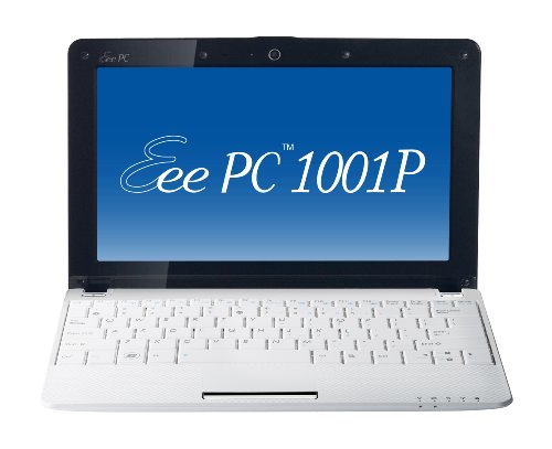 Asus Eee PC 1001P-MU17-WT 10.1-Inch Intel Atom Netbook Computer (White)