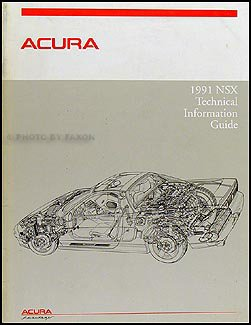 1991 Acura NSX Technical Information Guide Original