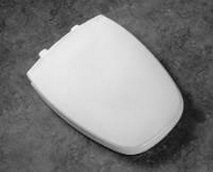 Wonderful Bemis 1240205162 Eljer Emblem Plastic Elongated Toilet Seat Silver